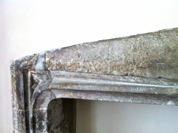 Repaied and Lime Plastered Fire Place